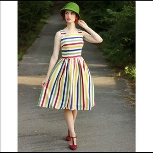 Collectif Rainbow fit and flare dress